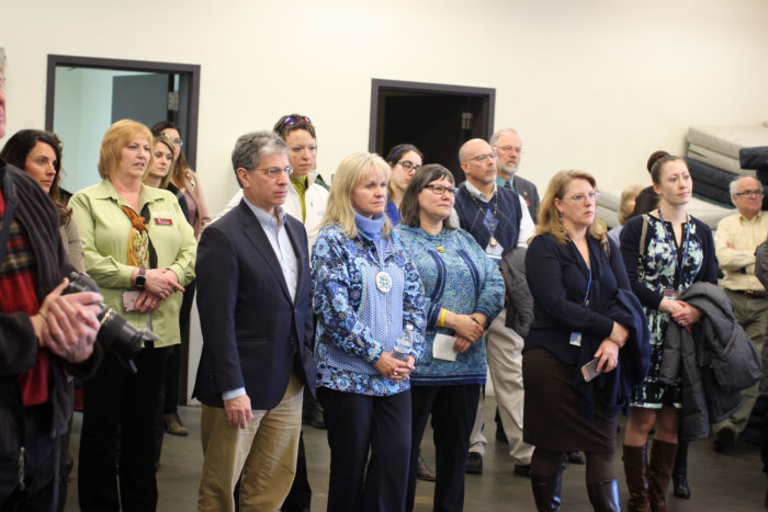 CSS dedicates space for Medical Respite; Anchorage Mayor Ethan Berkowitz, First Lady Donna Walker, DHSS Commissioner Valerie Davidson were present.