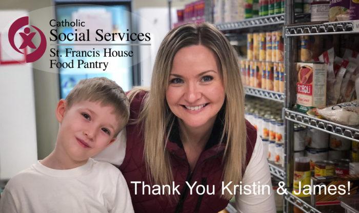 St. Francis House Food Pantry Volunteer Kristin Helvey