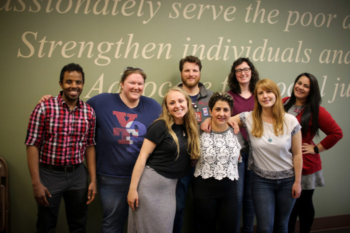 AmeriCorps Volunteers past and present at Catholic Social Services.